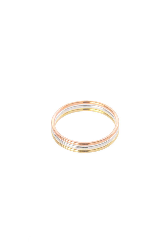 Women's Hannah Naomi Smooth Thin Stacker Ring in Rose Gold