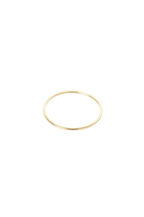 Women's Hannah Naomi Smooth Thin Stacker Ring in Gold