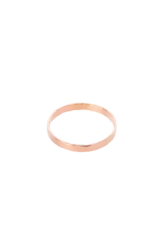 Women's Hannah Naomi Extra Thick Stacker Ring in Rose Gold
