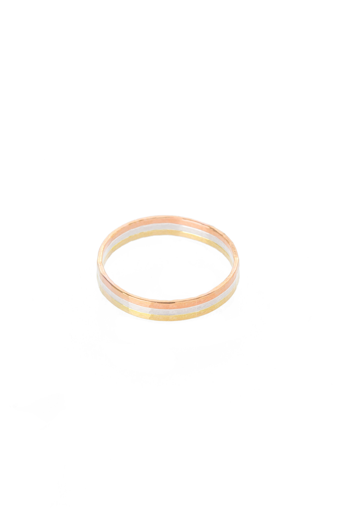 Women's Hannah Naomi Medium Stacker Ring in Rose Gold