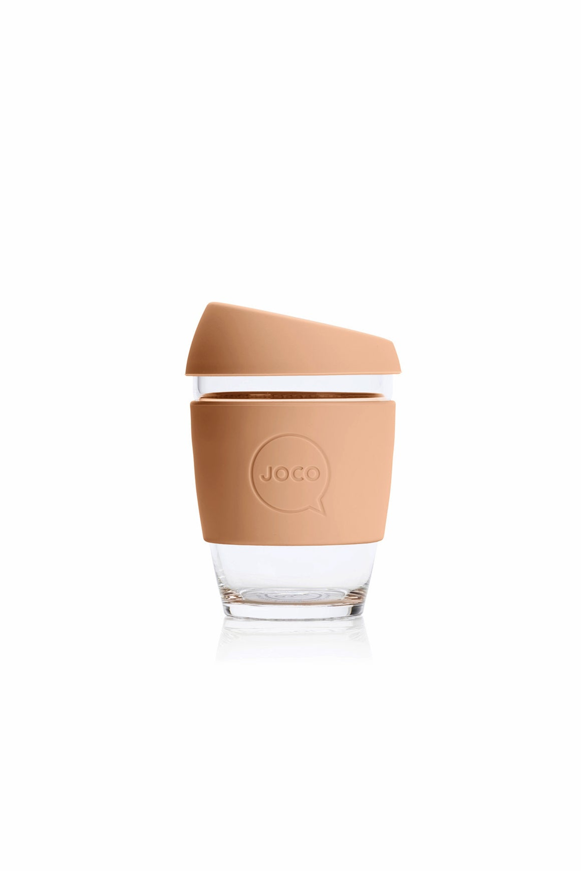 Joco Reusable Glass Coffee Cup in Amberlight