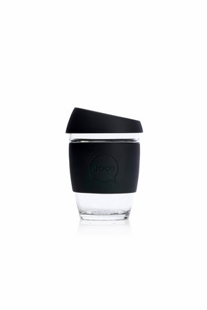 Reusable Glass Cup in Black - Philistine