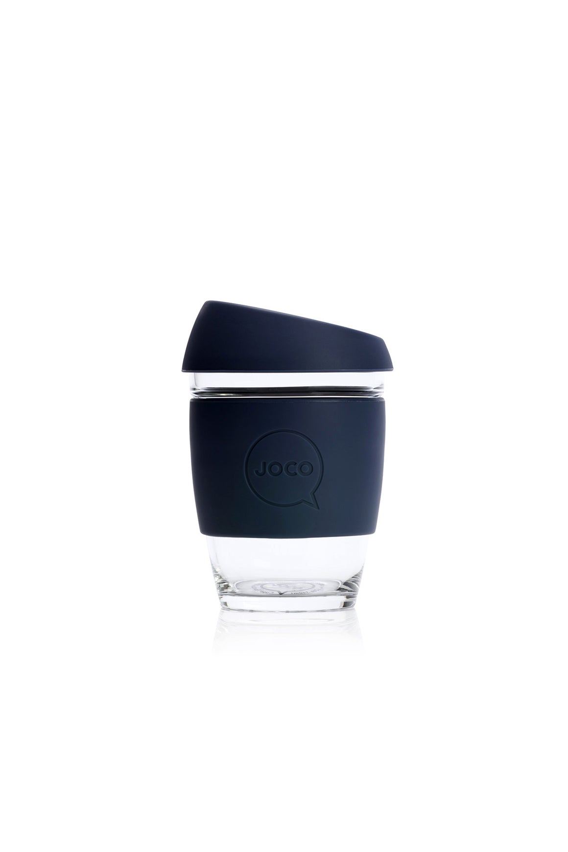 Reusable Glass Cup in Mood Indigo - Philistine