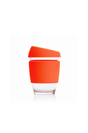 Reusable Glass Cup in Orange - Philistine