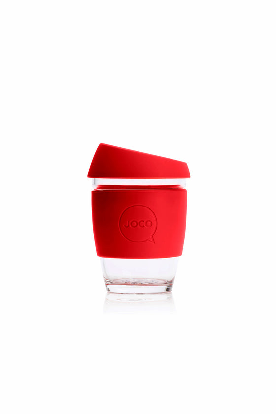 Joco Reusable Glass Cup in Red