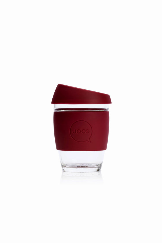 Joco Reusable Glass Cup in Ruby Wine