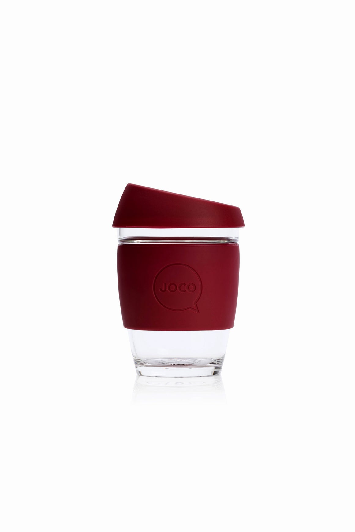 Reusable Glass Cup in Ruby Wine - Philistine