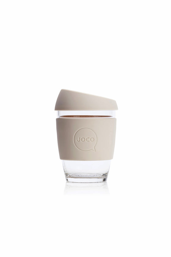Joco Reusable Glass Cup in Sandstone