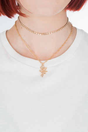 Layered Rose Choker - Philistine