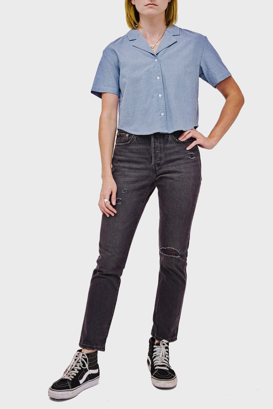 Women's Levi's 501 Skinny in Black Mail