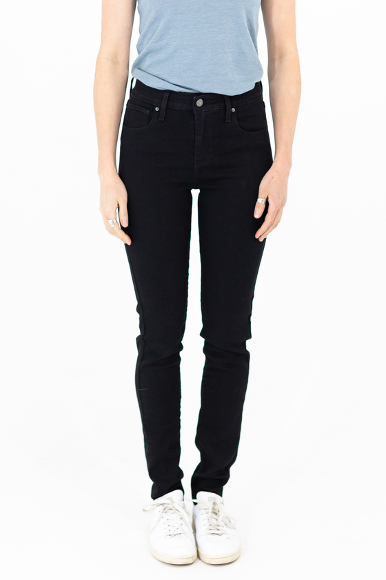 721 High Rise Skinny in Soft Black - Philistine