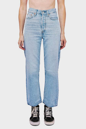 Women's Levi's Ribcage Straight Ankle in Middleroad