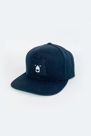 Black Bear Snapback in Black