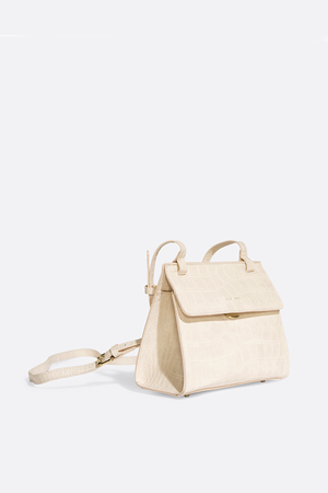 Christy Crossbody in White Croc - Philistine