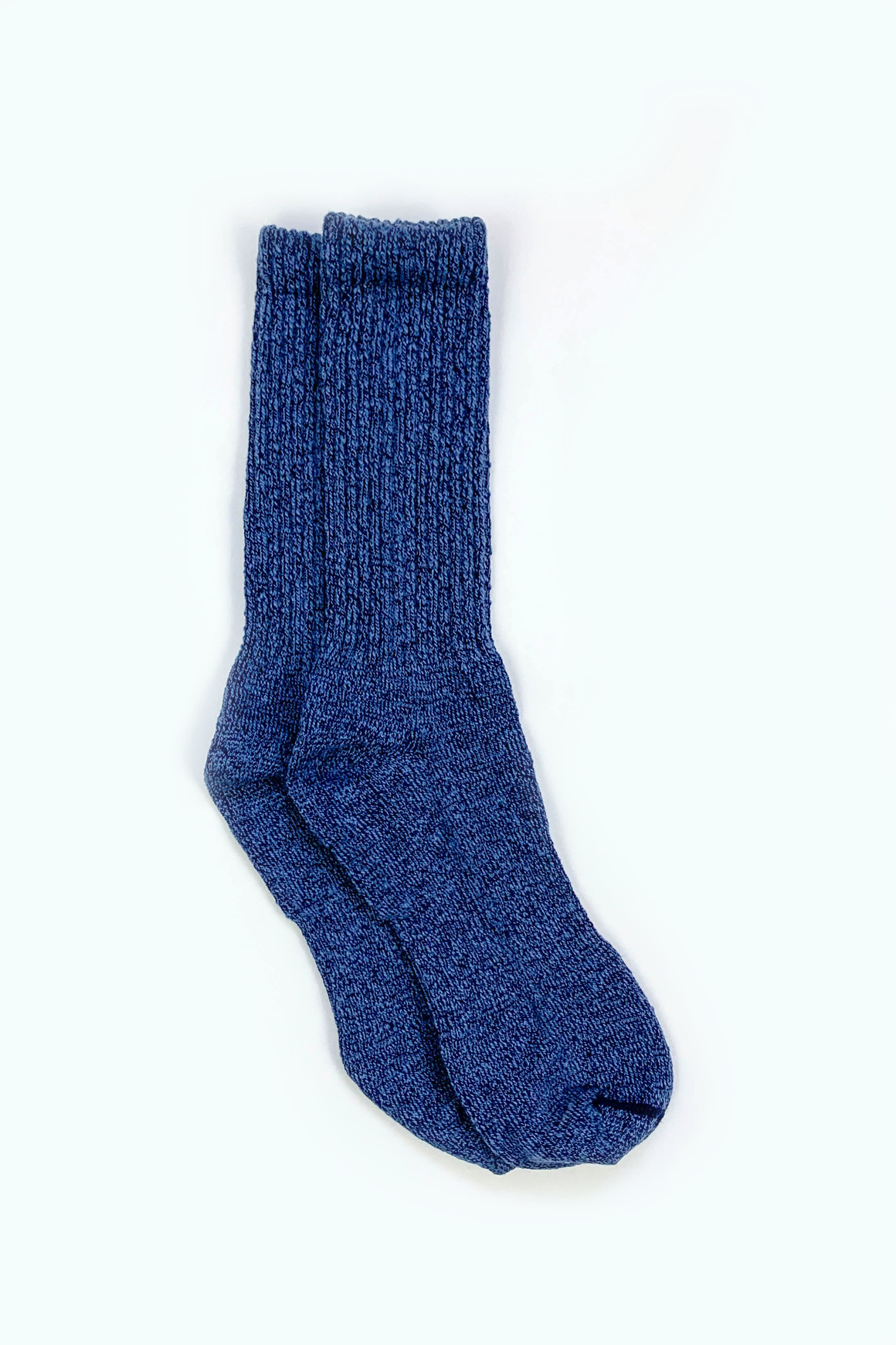 Overdyed Cotton Ragg Crew Sock in Blue - Philistine