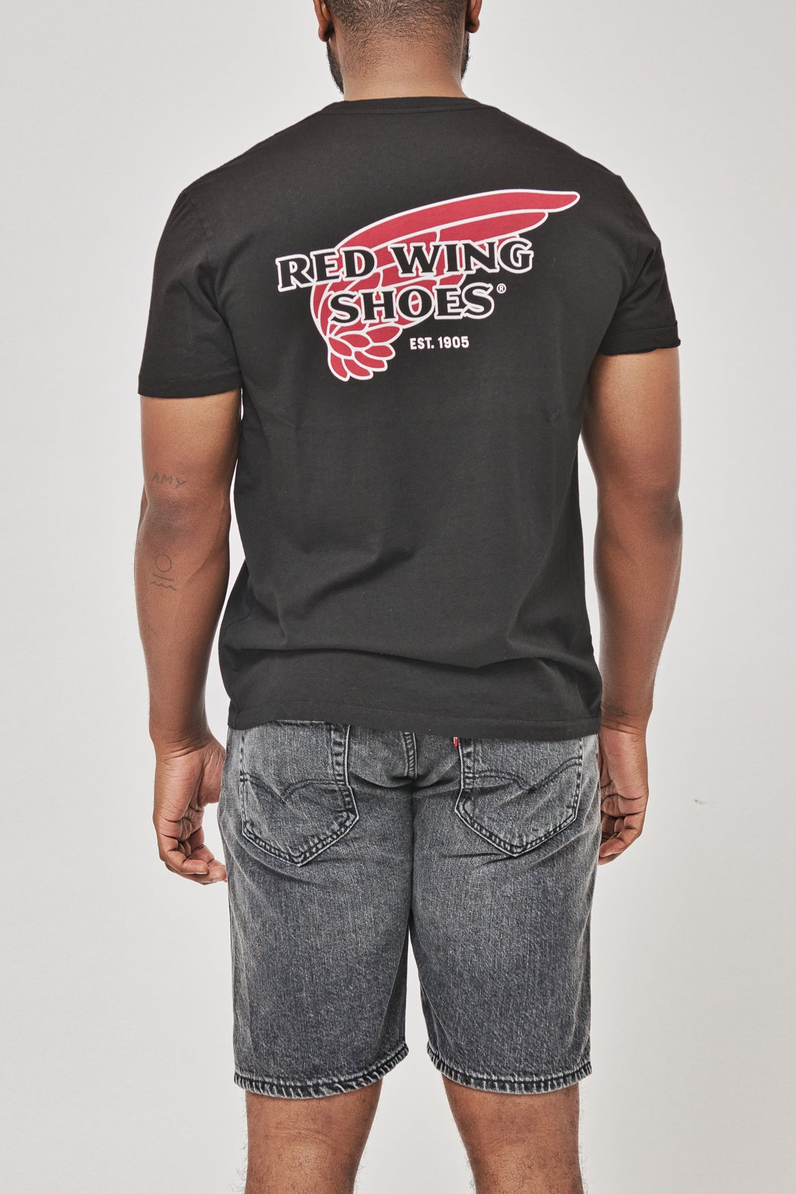 Men's Red Wing Heritage Logo T-Shirt in Black