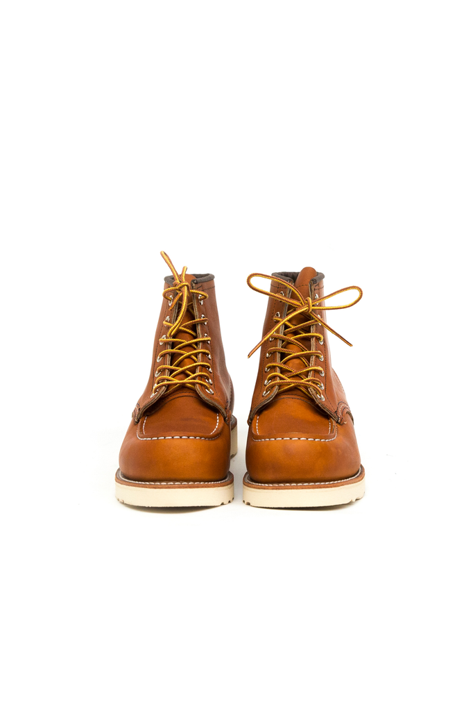Men's Red Wing Heritage 6 Inch Moc Toe Boots in Oro Legacy at Philistine Toronto