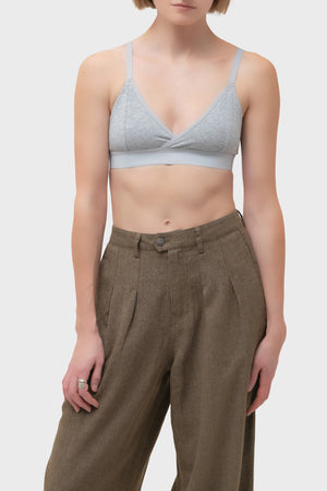 Women's Richer Poorer Classic Bralette in Heather Grey