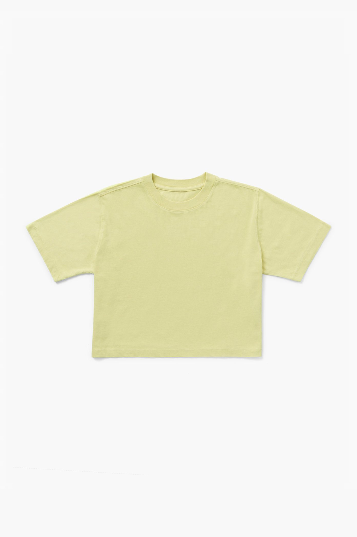 Relaxed SS Crop in Pale Green