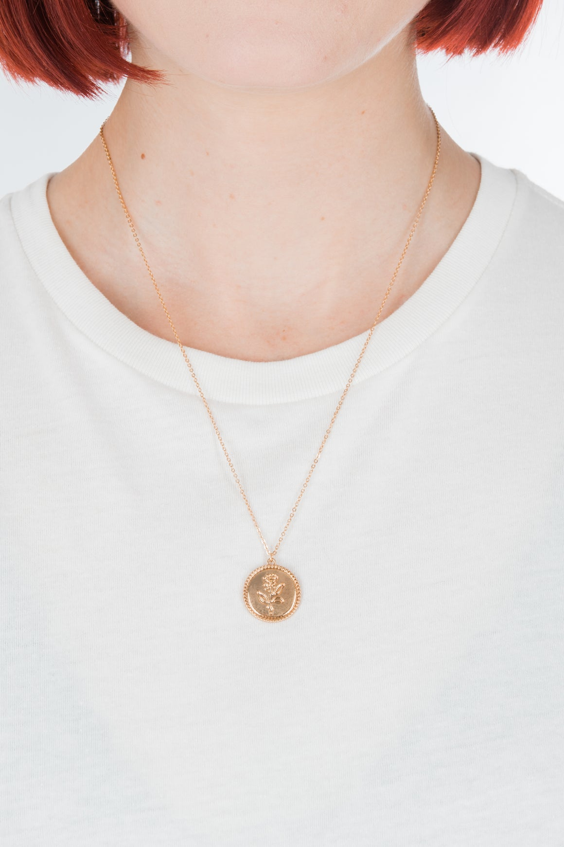 Rose Coin Necklace - Philistine