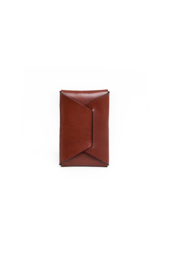 Made in Canada Chestnut Brown Leather Card Wallet by Apogee Goods