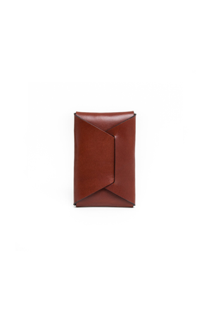 Stitchless Card Carry in Chestnut - Philistine