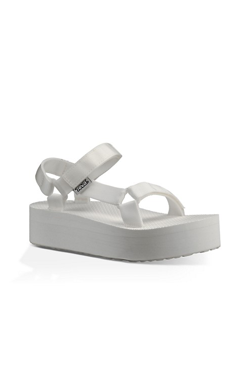 Women's Teva Flatform Universal Sandal in Bright White