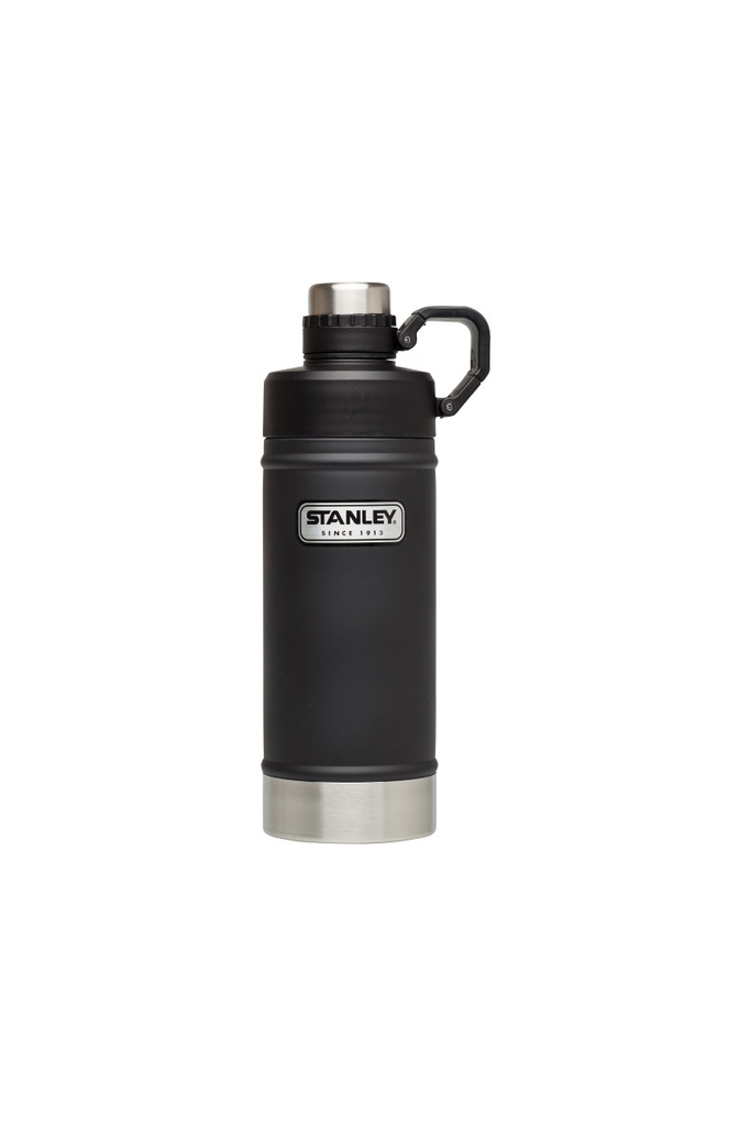 Classic Vacuum Camp Water Bottle in Black - Philistine
