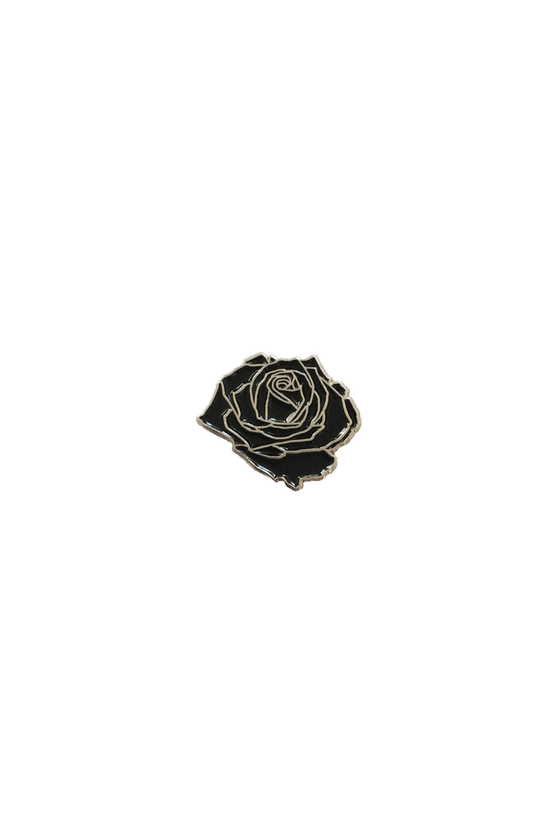 Black Rose Lapel Pin - Philistine