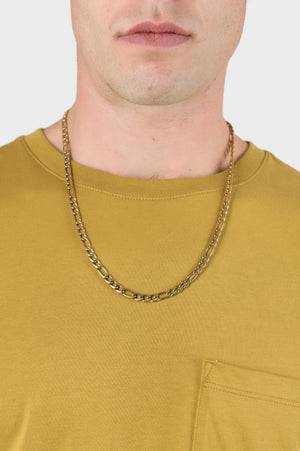 Bold Figaro Chain in Gold