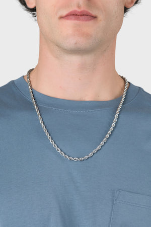 Bold Rope Chain in Silver