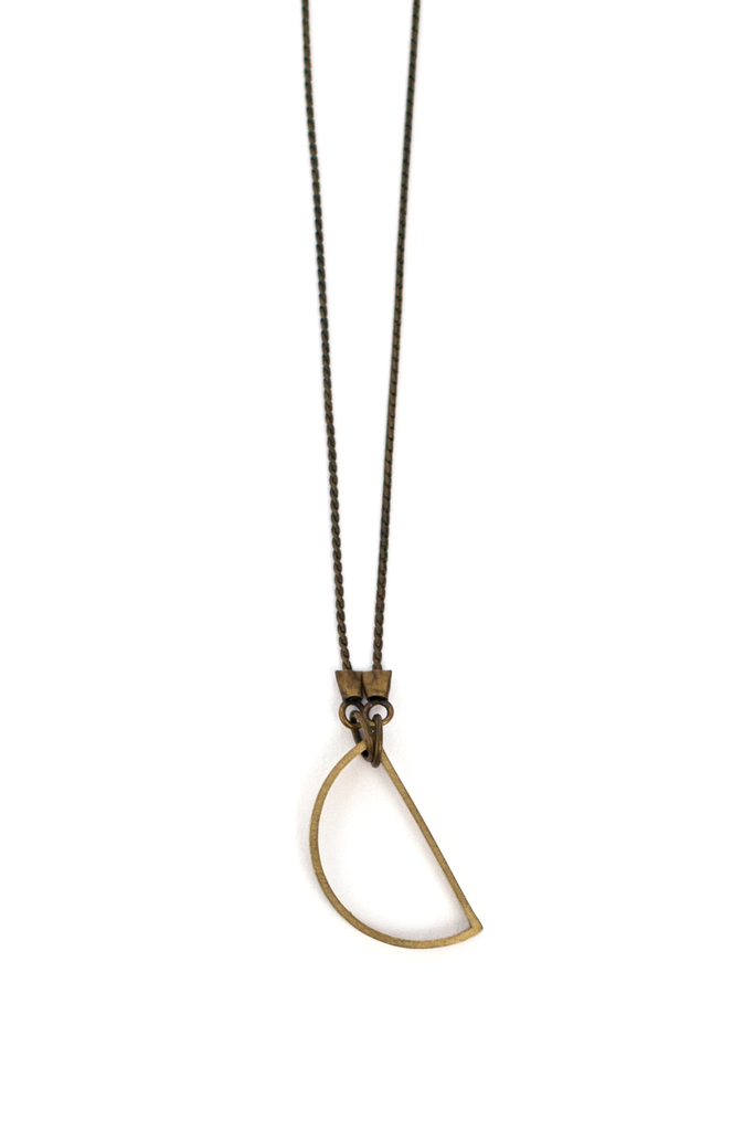 Hanging Semi Circle Necklace - Philistine