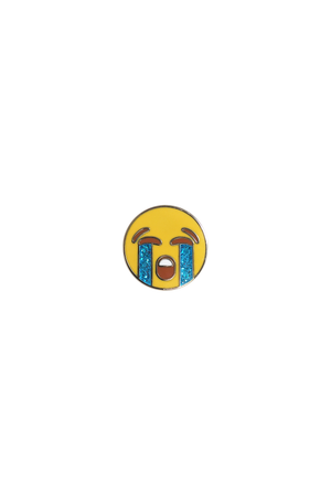 Crying Emoji Lapel Pin - Philistine