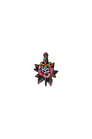 Dagger Rose Lapel Pin - Philistine