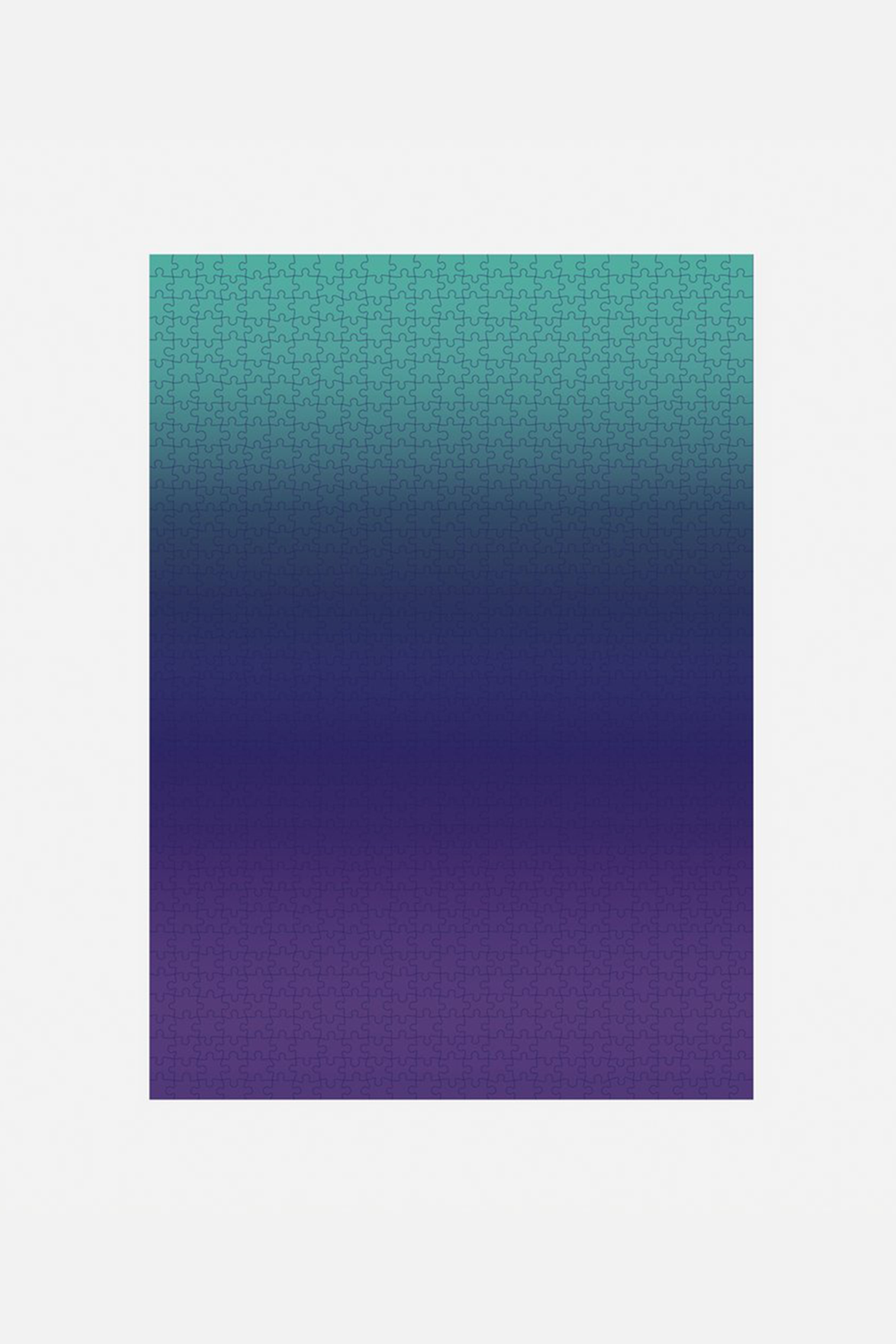 Large Gradient Puzzle in Purple/Teal