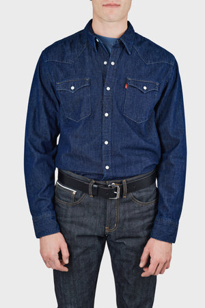 Men's Levi's Barstow Western Shirt in Red Cast Rinse