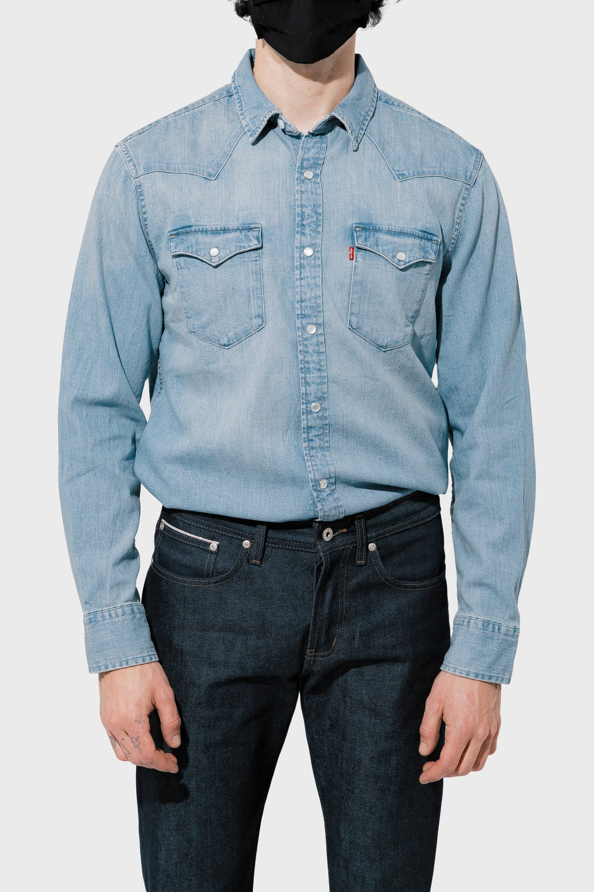 Men's Levi's Classic Western in Red Cast Stonewash