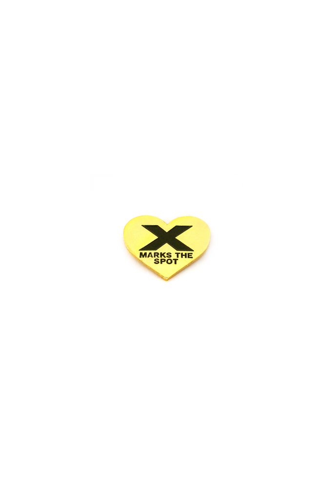 X Marks The Spot Lapel Pin
