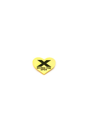 X Marks The Spot Lapel Pin - Philistine