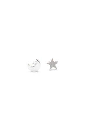 Moon and Stars Stud Earring - Philistine
