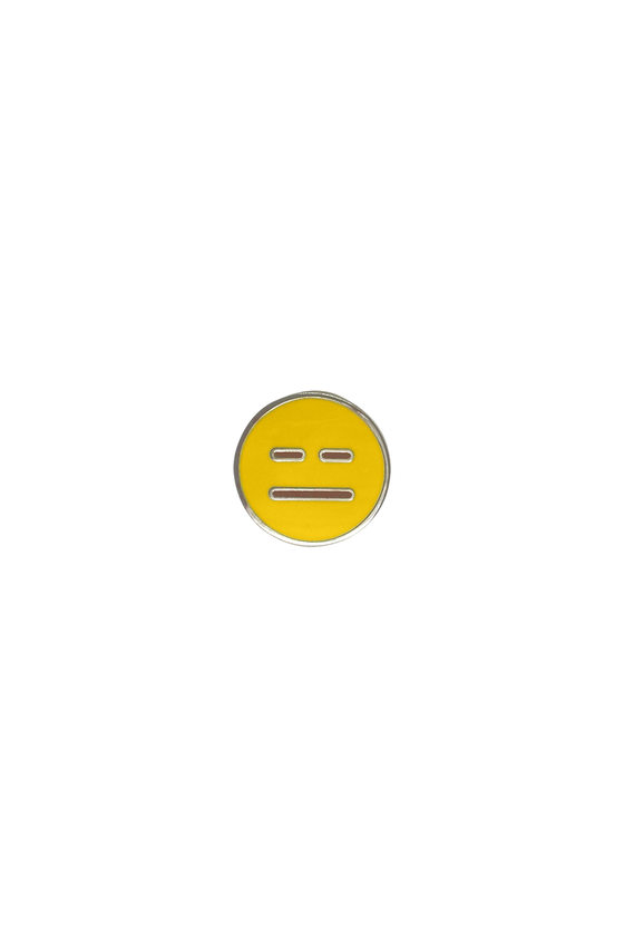Neutral Emoji Lapel Pin - Philistine