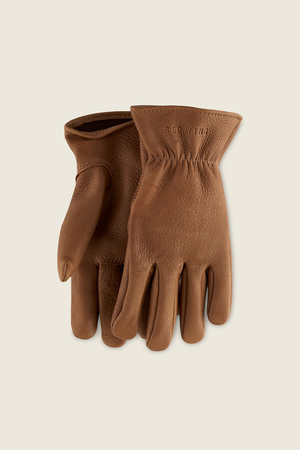 Red Wing Lined Buskskin Gloves in Nutmeg