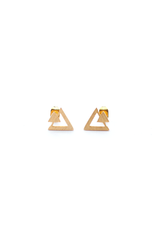 Open Triangle Stud Earring - Philistine