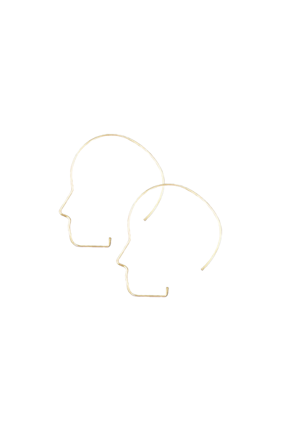 Profile Hoop Earrings in Gold