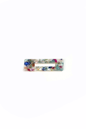 Rectangular Flecked Barrette - Philistine