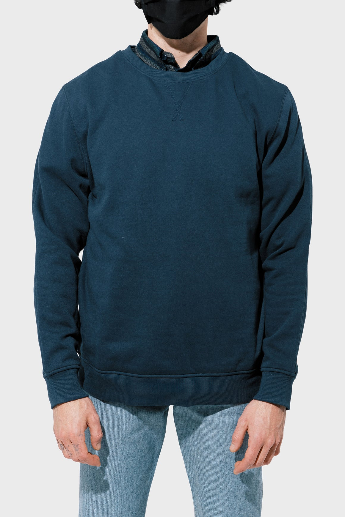 Men's Richer Poorer Crew Sweatshirt in Blue Nights