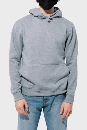 Men's Richer Poorer Recycled Pullover Hoodie in Heather Grey