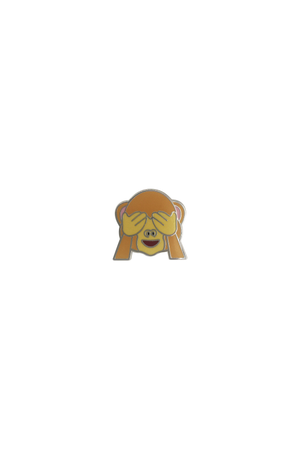See No Evil Emoji Lapel Pin - Philistine