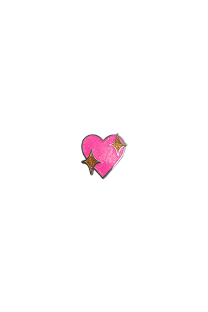 Sparkle Heart Emoji Lapel Pin - Philistine