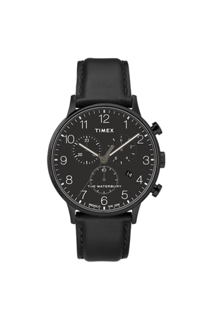 40mm Waterbury Chronograph in All Black - Philistine